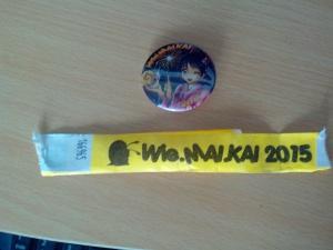 Das abgeschnittene Ticketbändchen und ein Convention-Button